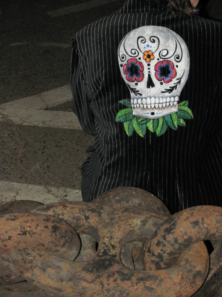 Velvet Skull Painting