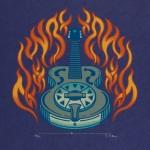 Houston Flaming Guitar