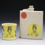 Valenzuela Ceramic Cup and Flask