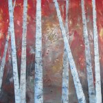 Williams Trees Encaustic Painting
